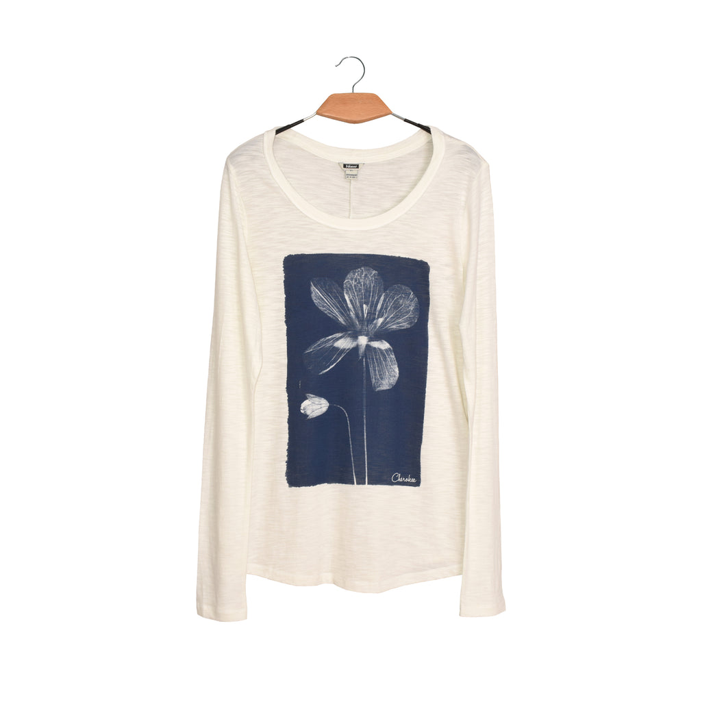 WOMEN'S L/S GRAPHIC TEE-WHITE-SSFW20KW-2001 - Export Mall Online Store Sale
