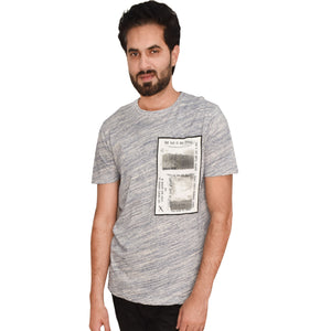 MEN'S S/S GRAPHIC TEE-NAVY BLAZER-EMFW20KM-1017 - Export Mall Online Store Sale
