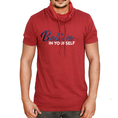 MEN'S S/S GRAPHIC TEE (TURTLE NECK)-RED HEATHER-EMFW20KM-1016 - Export Mall Online Store Sale