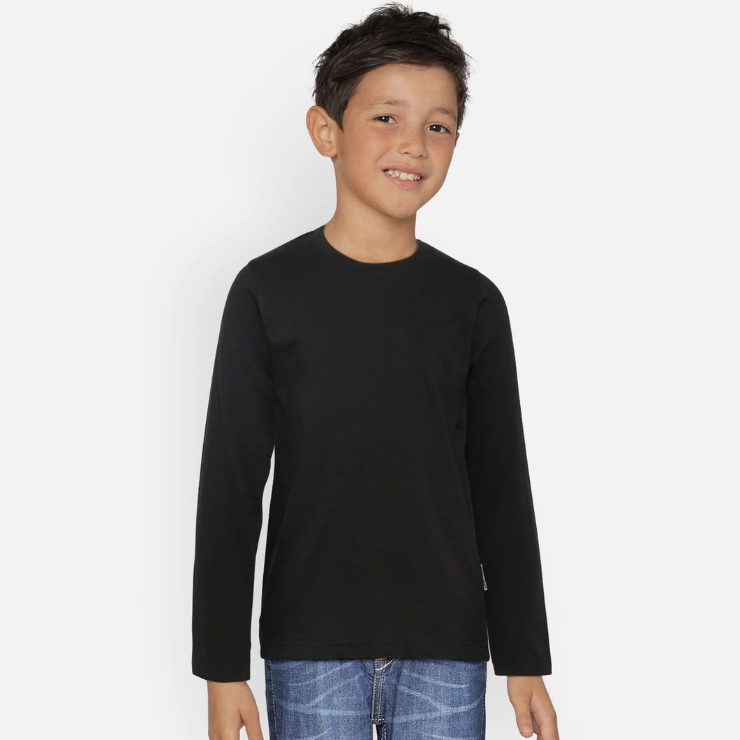 BOY'S L/S TEE-BLACK-SSFW20KB-1101 - Export Mall Online Store Sale