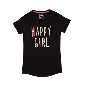 GIRL'S S/S GRAPHIC TEE-BLACK-EMSS20KG-2207 - Export Mall Online Store Sale