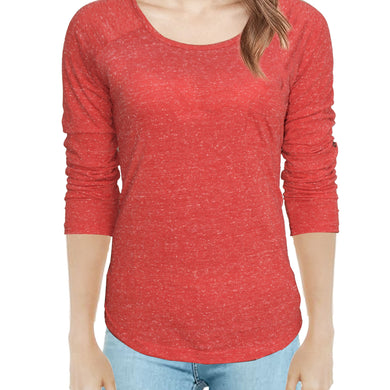 WOMEN'S L/S TEE-RED-SSFW20KW-2002 - Export Mall Online Store Sale