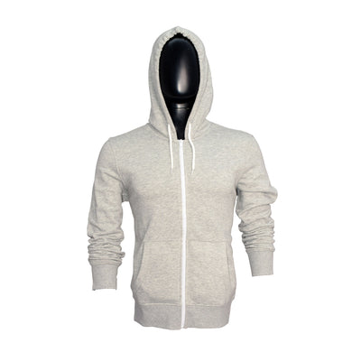 MEN'S GREY ZIPPER HOOD-3756 - Export Mall Online Store Sale