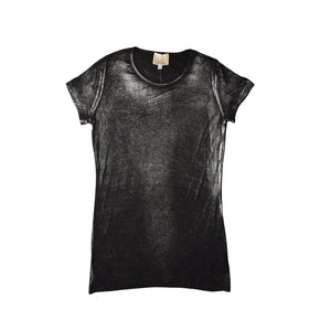 WOMEN'S S/S TEE BLACK/SILVER- 3599 - Export Mall Online Store Sale