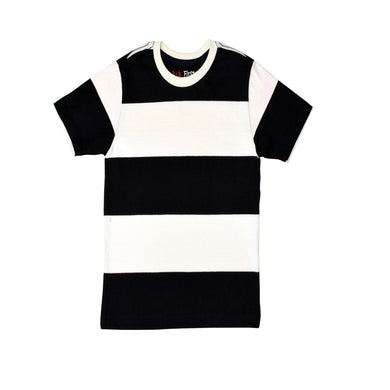 BOY'S S/S TEE- Navy/black White Strip - 2002 - Export Mall Online Store Sale