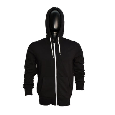MEN'S BLACK ZIPPER HOOD-3761 - Export Mall Online Store Sale