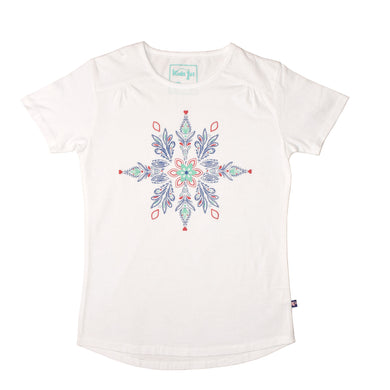 GIRL'S PRINTED TEE-White Print-GPTEE01 - Export Mall Online Store Sale