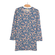 Load image into Gallery viewer, WOMEN'S SHIRT-NAVY PINK FLOWER - 25 - Export Mall Online Store Sale