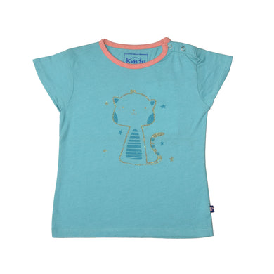 GIRL'S PRINTED TEE-TURQUISE-GPTEE01 - Export Mall Online Store Sale
