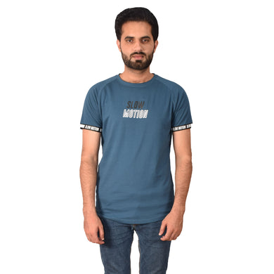 MEN'S S/S GRAPHIC REGLAN Blue-1004 - Export Mall Online Store Sale