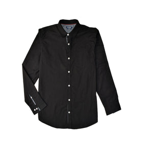 MEN'S WOVEN SHIRT BLACK-3813 - Export Mall Online Store Sale