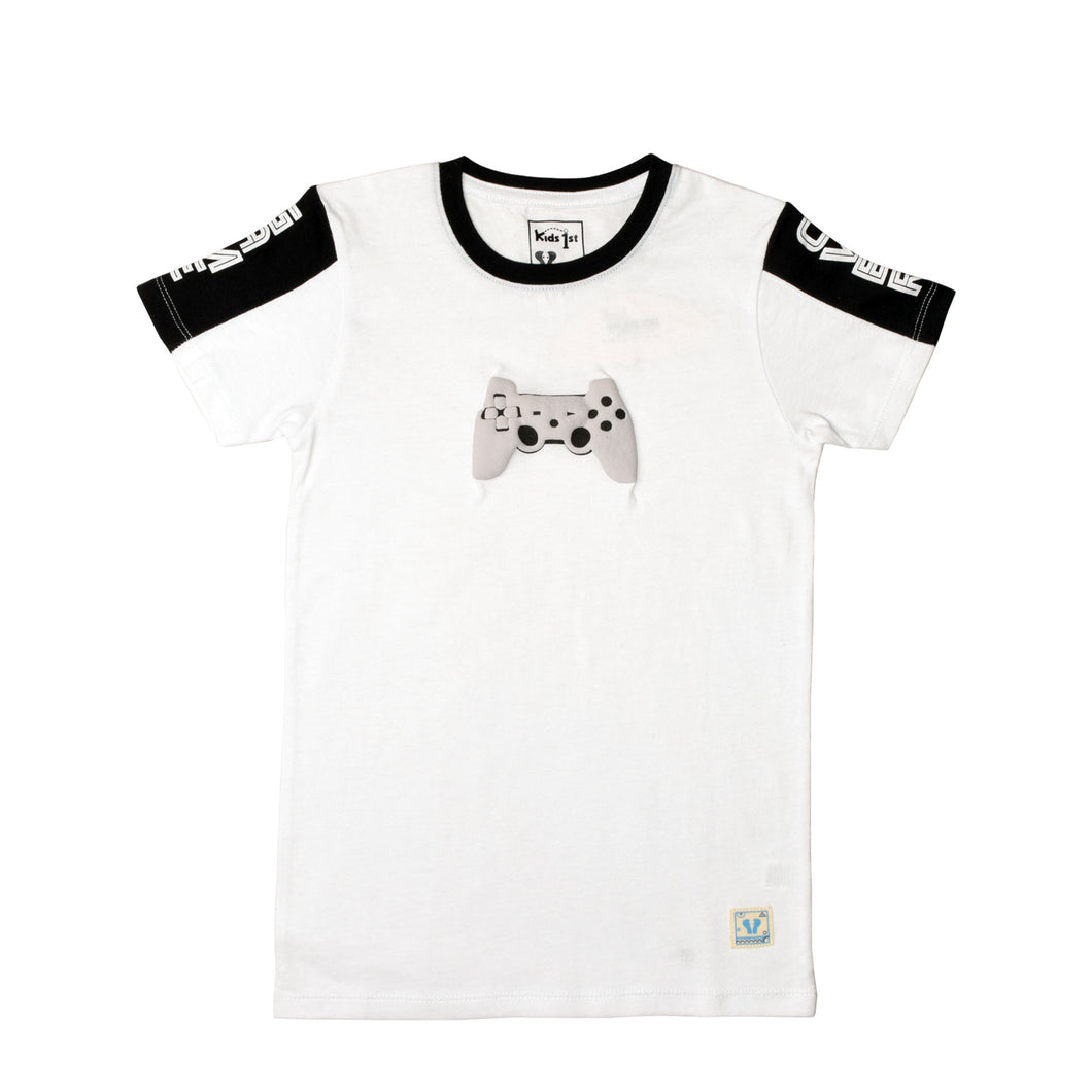 BOY'S S/S GRAPHIC TEE-WHITE-EMSS20KB-1116 - Export Mall Online Store Sale