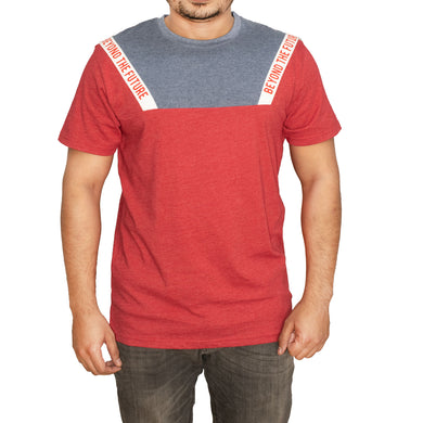 MEN'S-MEN'S S/S GRAPHIC TEE-GLOSSY RED HTR-EMFW20KM-1019 - Export Mall Online Store Sale