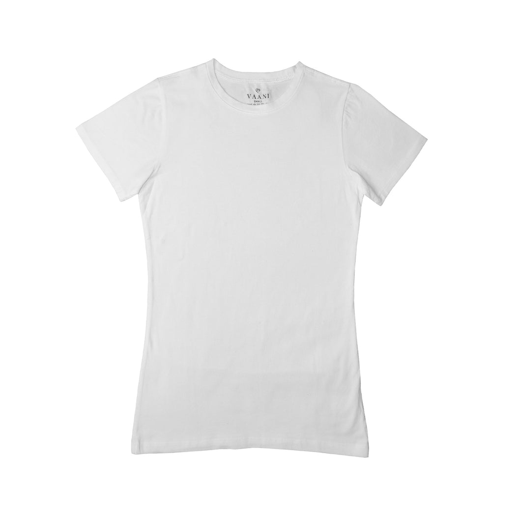 WOMEN'S S/S TEE-WHITE-3570 - Export Mall Online Store Sale