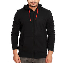Load image into Gallery viewer, MEN'S ZIPPER HOOD-BLACK-SSFW20KM-1010 - Export Mall Online Store Sale