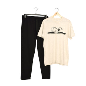 MEN'S SET- OATMEAL/BLACK-1035 - Export Mall Online Store Sale