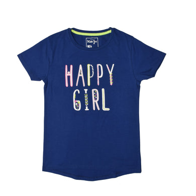 GIRL'S S/S GRAPHIC TEE-BLUE-EMSS20KG-2207 - Export Mall Online Store Sale