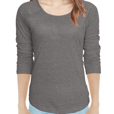 WOMEN'S L/S TEE-CHARCOAL-SSFW20KW-2002 - Export Mall Online Store Sale