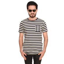 Load image into Gallery viewer, MEN'S S/S GRAPHIC TEE-NAVY/OATMEAL-EMFW20KM-1008 - Export Mall Online Store Sale