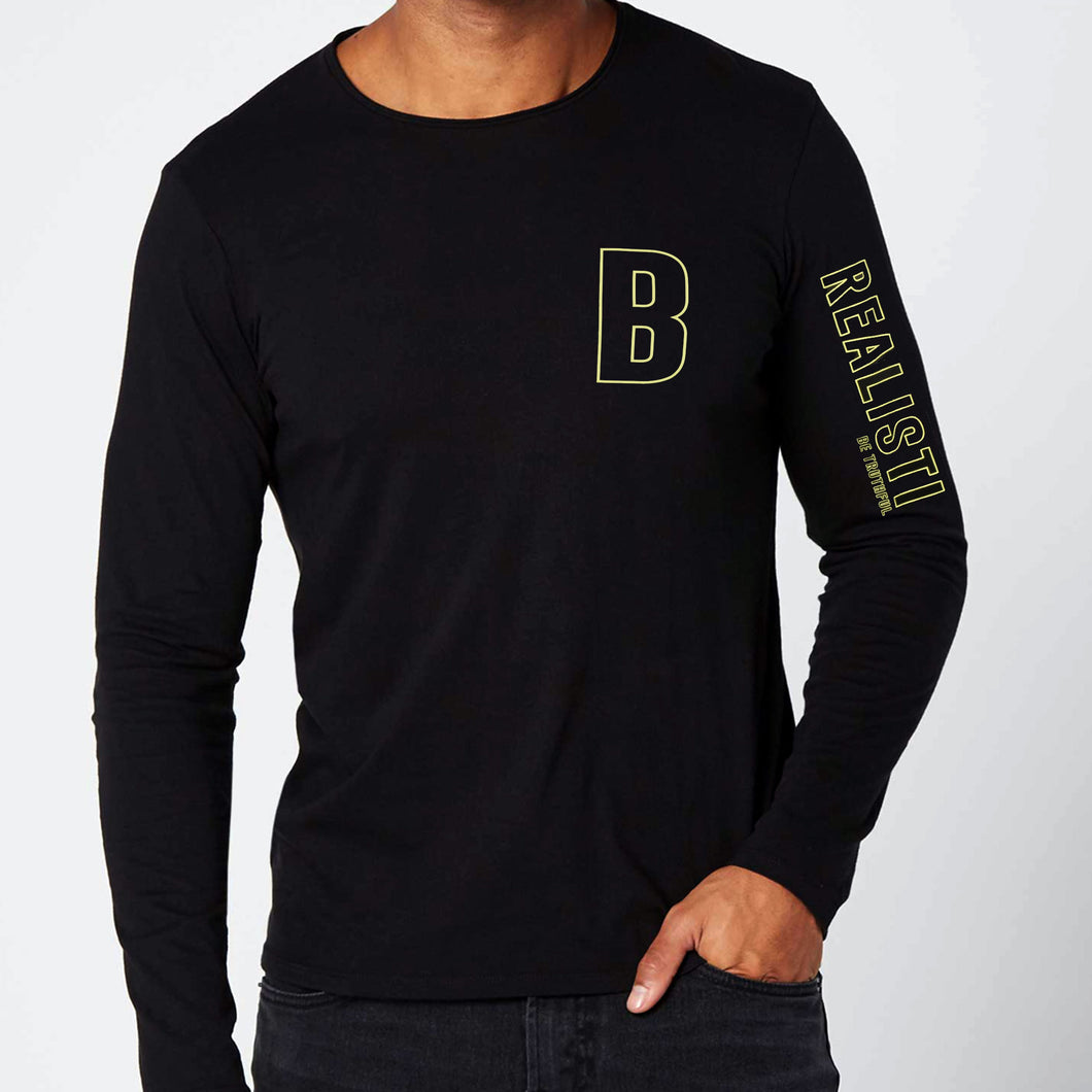 MEN'S L/S GRAPHIC TEE-BLACK-EMFW20KM-1011 - Export Mall Online Store Sale