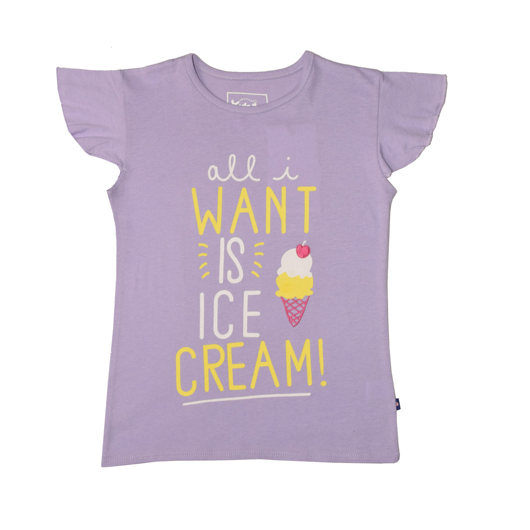 GIRL'S PRINTED TEE-PURPLE WANT-GPTEE01 - Export Mall Online Store Sale
