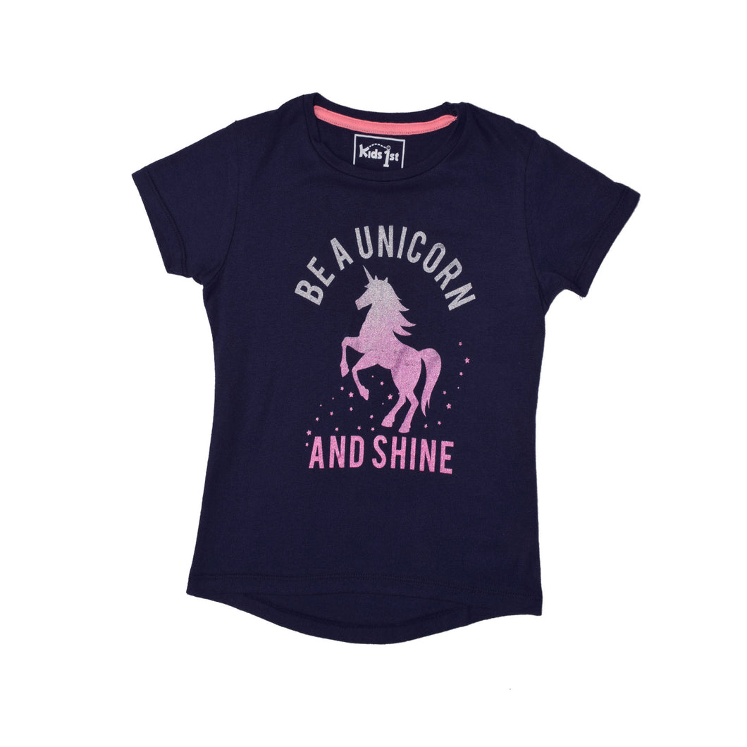 GIRL'S S/S GRAPHIC TEE-NAVY-EMSS20KG-2211 - Export Mall Online Store Sale