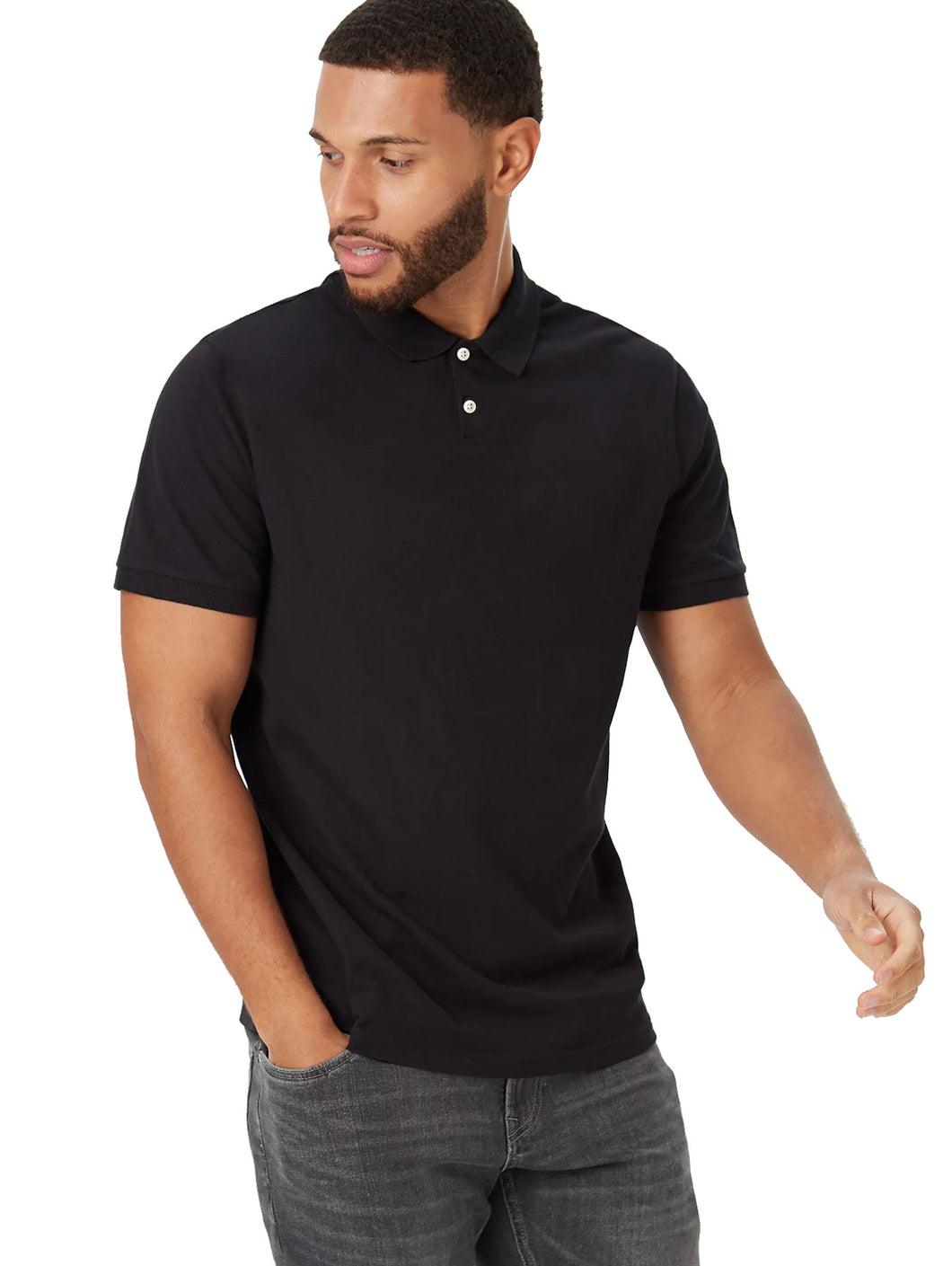 MEN'S S/S POLO - Black/3640 - Export Mall Online Store Sale