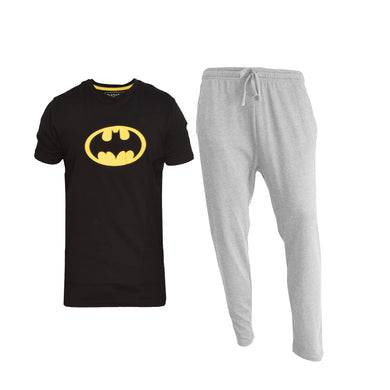MEN'S SET BATMAN (S/S TEE & TROUSER)-BLACK/GREY-EMFW4KM-1073 - Export Mall Online Store Sale