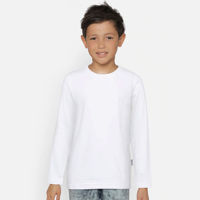 BOY'S L/S TEE-WHITE-SSFW20KB-1101 - Export Mall Online Store Sale