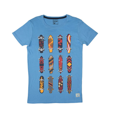 BOY'S S/S GRAPHIC TEE-Azure Blue-EMSS20KB-1105 - Export Mall Online Store Sale