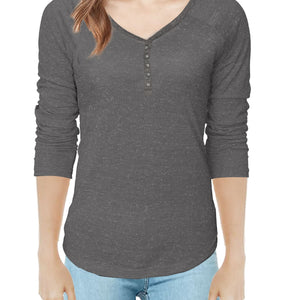 WOMEN'S L/S HENLY-CHARCOAL-SSFW20KW-2003 - Export Mall Online Store Sale