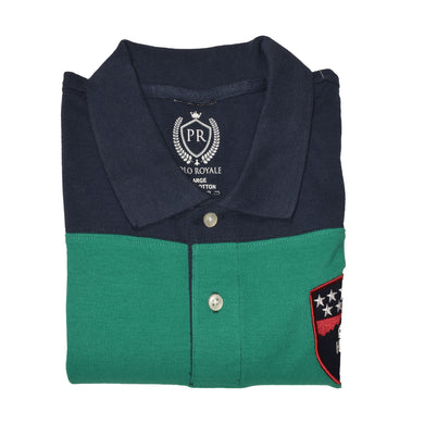 MEN'S S/S NAVY GREEN GREY POLO-3697 - Export Mall Online Store Sale