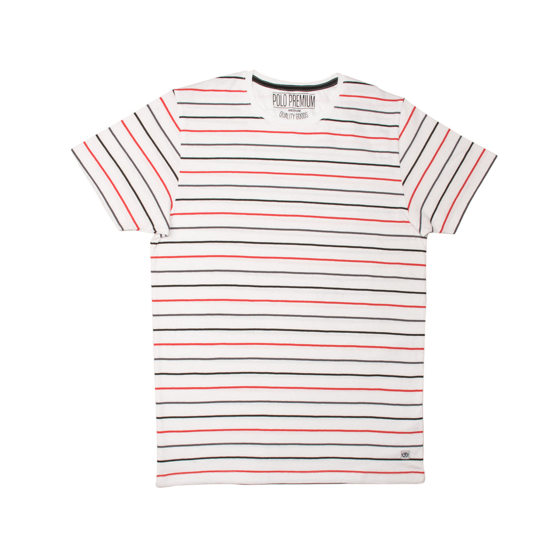 MEN'S S/S GRAPHIC TEE-White/Red/Black-EMSS20KM-1018 - Export Mall Online Store Sale