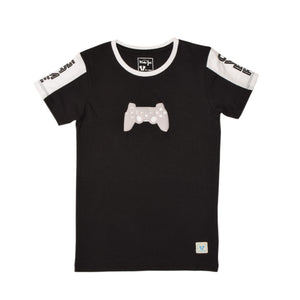 BOY'S S/S GRAPHIC TEE-BLACK-EMSS20KB-1116 - Export Mall Online Store Sale