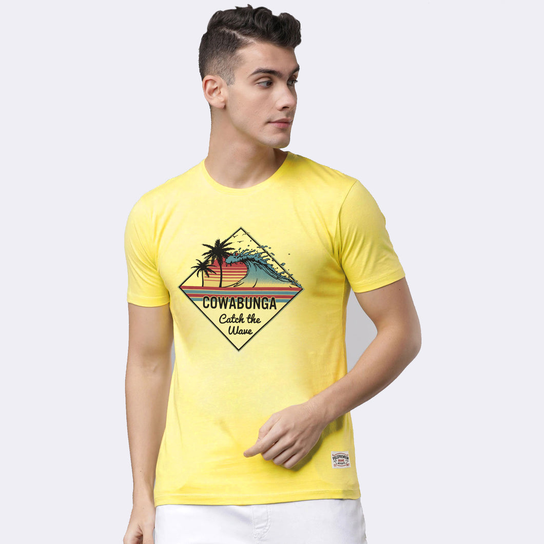 MEN'S S/S GRAPHIC TEE-Vanila-EMSS20KM-1012 - Export Mall Online Store Sale