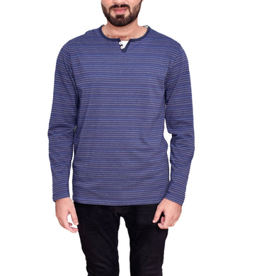 MEN'S L/S HENLY-BLUE/WHITE-EMFW20KM-1005 - Export Mall Online Store Sale