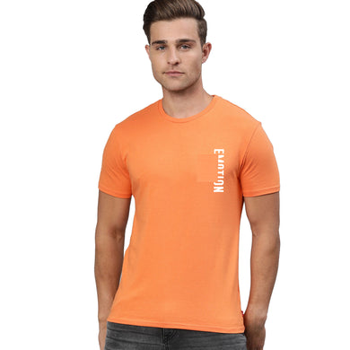 MEN'S S/S GRAPHIC TEE-ORANGE-EMFW20KM-1010 - Export Mall Online Store Sale
