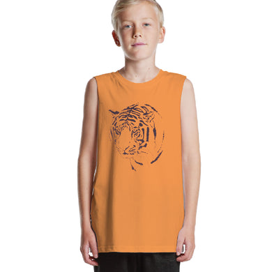 BOY'S SET (MUSCLE TEE & SHORT)-ORANGE/BLACK-SSSS20KB-1199 - Export Mall Online Store Sale