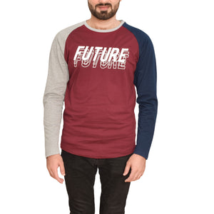 MEN'S L/S GRAPHIC REGLAN-Maroon/Grey-EMFW20KM-1001 - Export Mall Online Store Sale