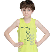 Load image into Gallery viewer, BOY'S SET (MUSCLE TEE & SHORT)-NEON GREEN/BLACK-SSSS20KB-1301 - Export Mall Online Store Sale