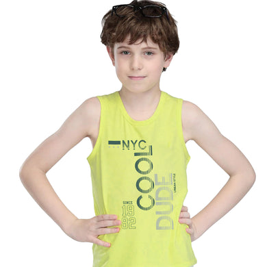BOY'S SET (MUSCLE TEE & SHORT)-NEON GREEN/BLACK-SSSS20KB-1301 - Export Mall Online Store Sale
