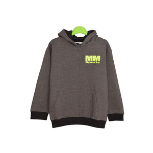 BOYS L/S PH HOOD-CHARCOAL MM SPORTS-1153 - Export Mall Online Store Sale