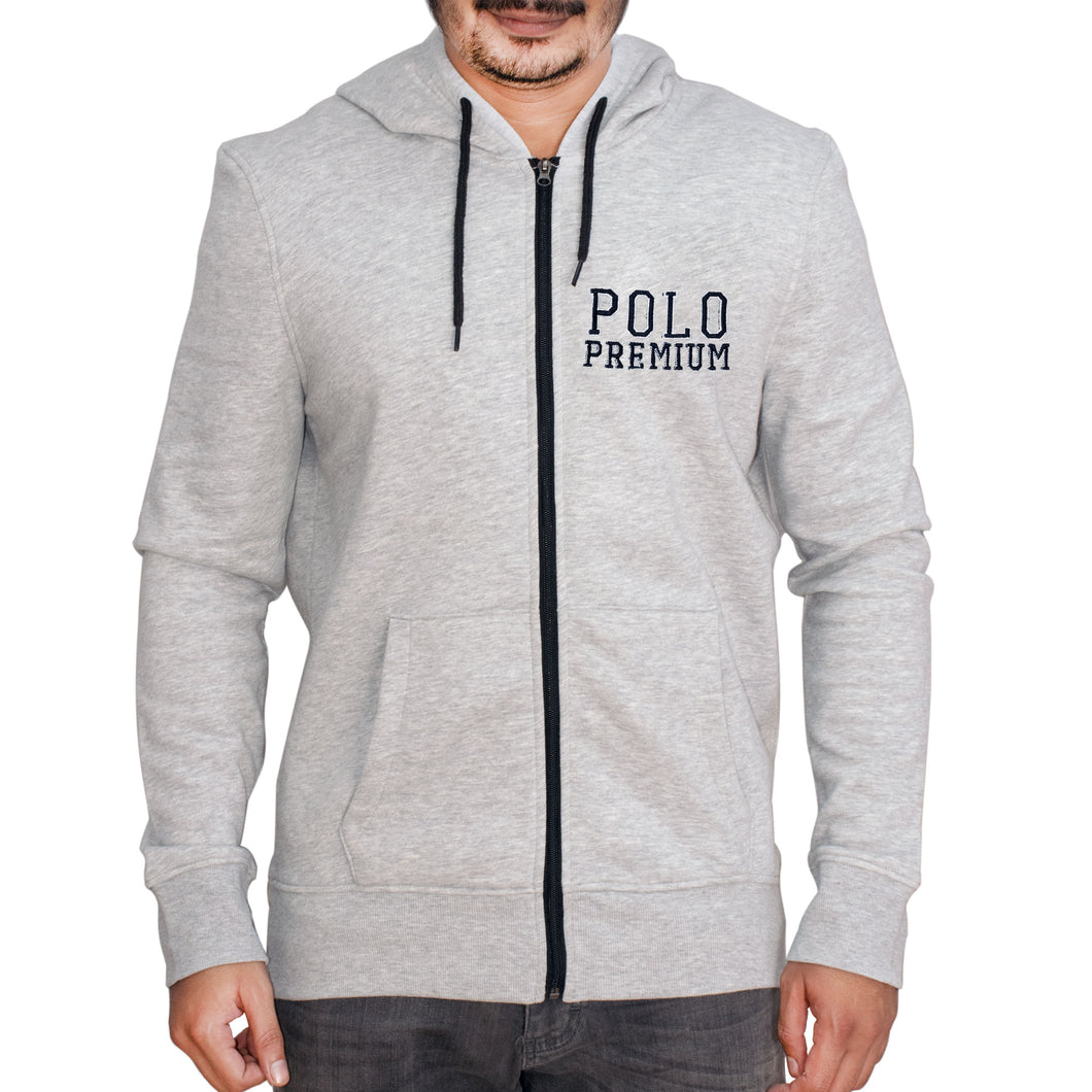 MEN'S ZIPPER HOOD-GREY-SSFW20KM-1011 - Export Mall Online Store Sale