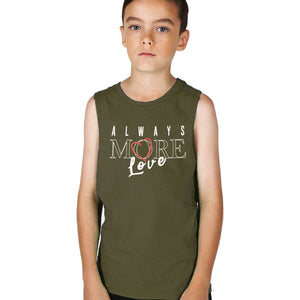 BOY'S SET (MUSCLE TEE & SHORT)-OLIVE/GREY-SSSS20KB-1198 - Export Mall Online Store Sale