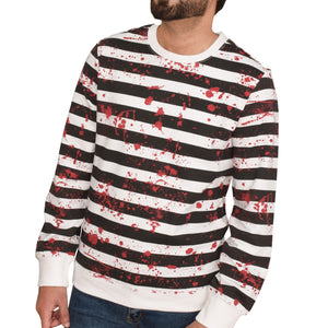 MEN'S L/S SWEAT SHIRT-WHITE / BLACK 3837-25 - Export Mall Online Store Sale