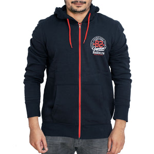 MEN'S ZIPPER HOOD-NAVY-SSFW20KM-1009 - Export Mall Online Store Sale