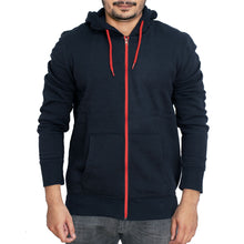Load image into Gallery viewer, MEN'S ZIPPER HOOD-NAVY-SSFW20KM-1010 - Export Mall Online Store Sale