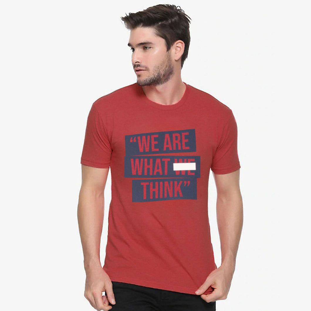 MEN'S S/S GRAPHIC TEE-RED HEATHER-EMSS20KM-1011 - Export Mall Online Store Sale