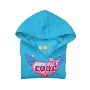 GIRL'S PULLOVER HOOD-TURQUISE-SSFW20KG-2202 - Export Mall Online Store Sale