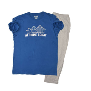 MEN'S SET- ROYAL BLUE/GREY HTR-1036 - Export Mall Online Store Sale